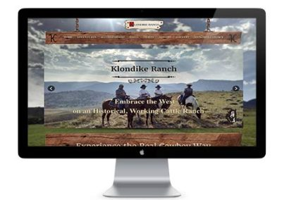 Klondike Guest Ranch | Web Redesign