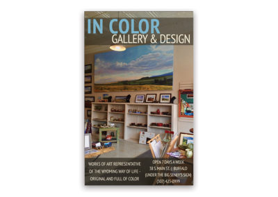 In Color Art Gallery | 1/8 Vertical Ad