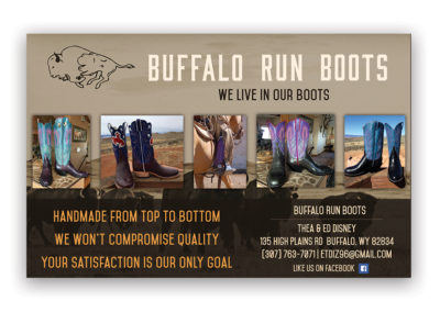 Buffalo Run Boots | 1/2 Horizontal Ad