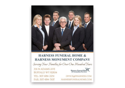 Harness Funeral Home | 1/4 Page Ad