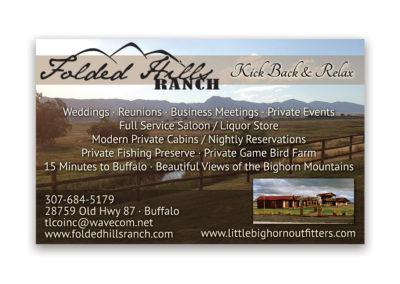 Folded Hill Ranch | 1/8 Horizontal Ad
