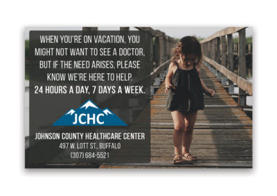 Johnson County Healthcare | 1/8 Horizontal Ad