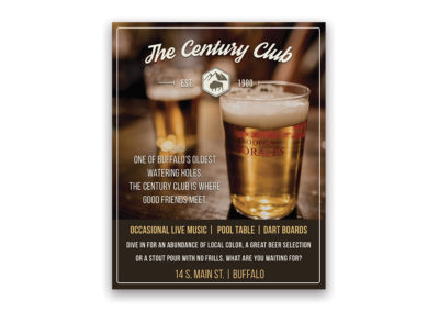 The Century Club | 1/4 Page Ad