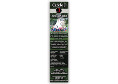 Circle J Retreat | 1/3 Page Horizontal Ad