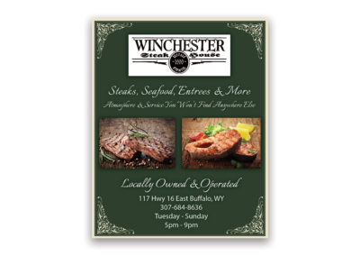 Winchester Steakhouse | 1/4 Page Ad