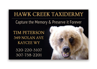 Hawk Creek Taxidermy | 1/8 Horizontal Ad