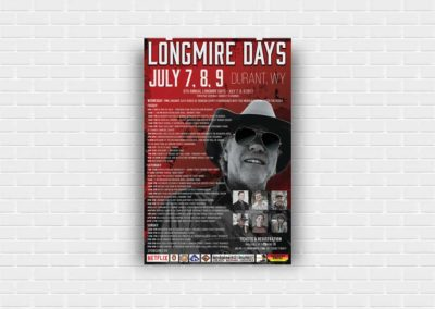 Longmire Days - 11x17 Poster Design - For Advertisement